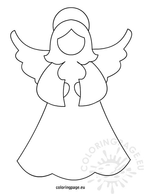 easy angel coloring pages simple christmas angel coloring page coloring pages