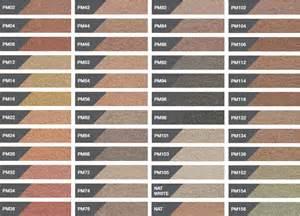 brick mortar color chart coloured mortar