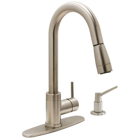 huntington brass 8 quot kitchen pull out faucet satin nickel