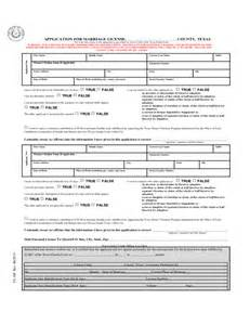 application for marriage license or certificate texas