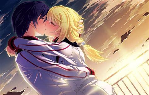 wallpaper infinite sky girl guy kiss love wallpaper