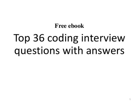 top 10 coding questions with answers