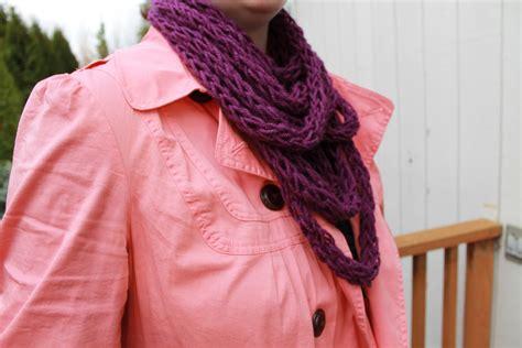 finger knitting scarf pattern a knitting