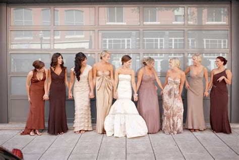 different color bridesmaid dresses different bridesmaid dress ideas and photos