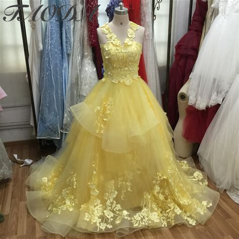 Wedding Dress Yellow by Buy Wholesale Yellow Wedding Dress From China