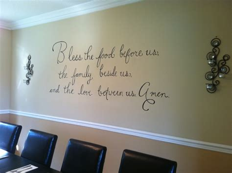 Dining Room Wall Quotes | dining room wall quotes quotesgram