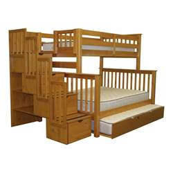Free Diy Full Size Loft Bed Plans by Bedz King Twin Over Full Bunk Bed With Storage Amp Reviews Wayfair