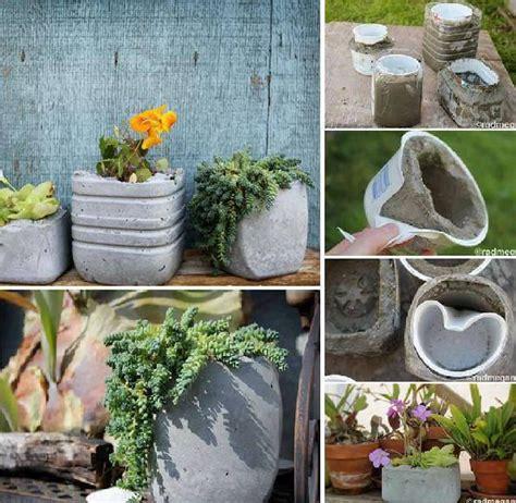 Diy Concrete Planters 1001 Gardens How To Make A Concrete Planter