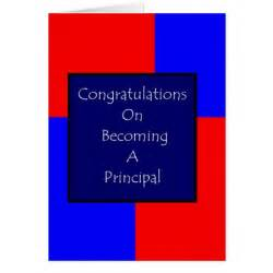 congratulations on becoming a principal card zazzle