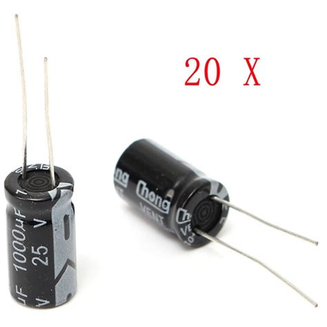 capacitor 1000uf 25v preço 20pcs 1000uf 25v radial electrolytic capacitor 10x17mm 105 176 c alex nld
