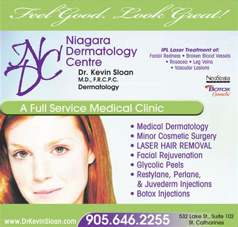 canada hair removal clinic niagara dermatology centre opening hours 102 532 lake