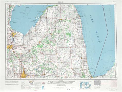 where is flint on map flint topographic maps mi usgs topo 43082a1 at 1
