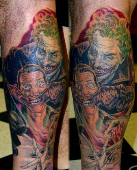 joker tattoo on leg leg tattoo joker 20batman 20tattoo 20tattoosmall img1672