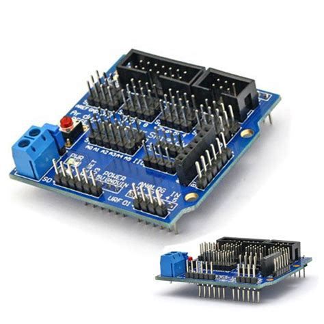 Sensor Shield V5 For Arduino Uno arduino uno mega duemilanove sensor shield v5 digital analog servo motor module ebay