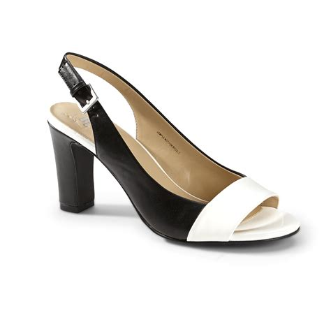 mootsies tootsies s karaline black white slingback