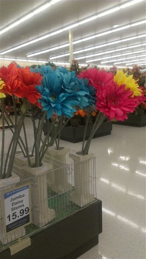giant colorful flowers from hobby lobby dream home