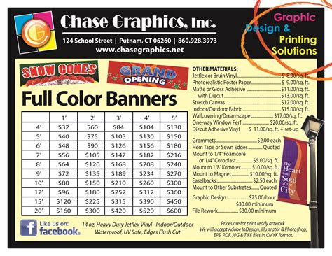 vinyl printing rates in pune chase graphics inc eastern ct printing solutions