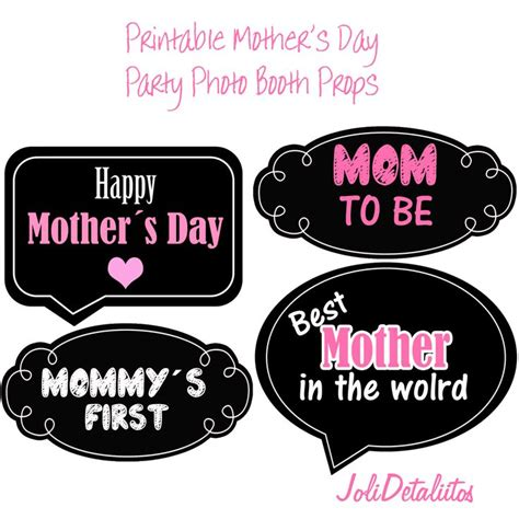 printable mother s day photo booth props 17 best images about d 237 a del padre y madre on pinterest