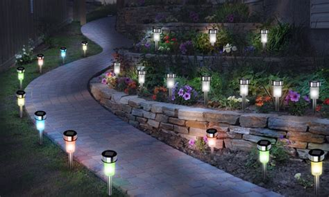 luces jardin solares 10 luces solares led para jard 237 n groupon goods
