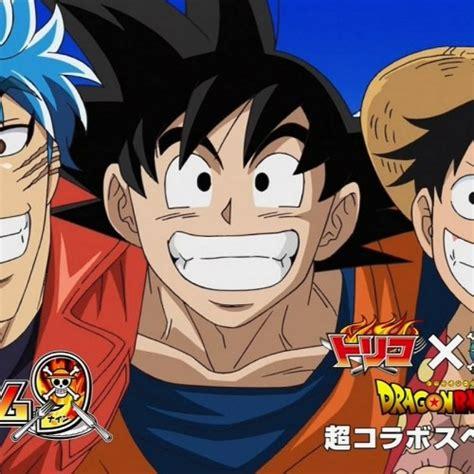 goku and luffy vs toriko goku vs luffy vs toriko one piece 590 crossover