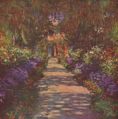 Monet In The Garden by Bright Flowers And Water Lilies Claude Monet S Giverny