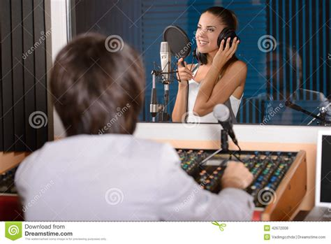 Studio Technician by Recording Studio Stock Photo Image 42672008