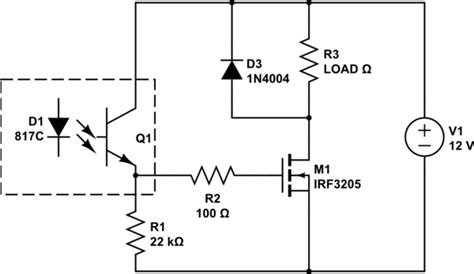 optocoupler load resistor mosfet how are led controllers able to switch high power current without becoming