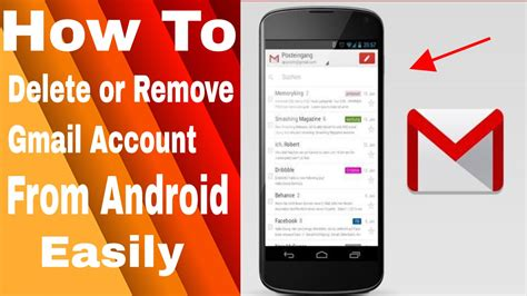 how to delete a account from android how to delete or remove gmail account from android phone tell me how