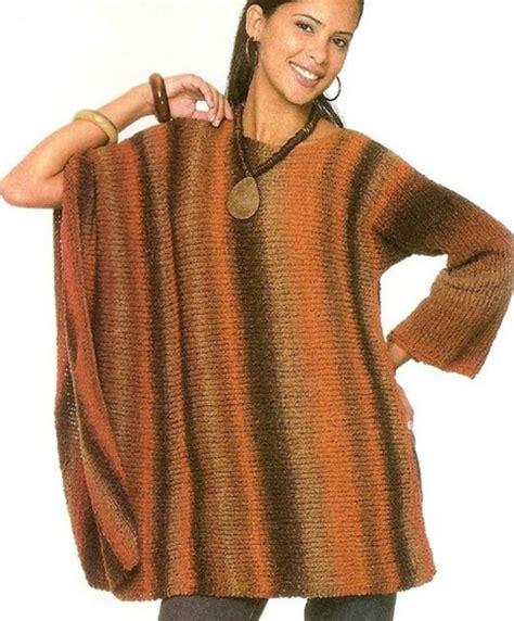 como tejer poncho con manga patrones crochet
