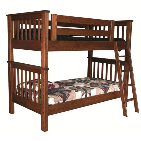 amish bunk beds mission twin over twin bunk bed solid wood bunk bed