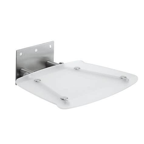 Square Shower Baths simpsons square wall mounted folding shower seat at