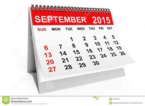 Calendario Setembro 2015 Calendar September 2015 Stock Illustration Image 57535214