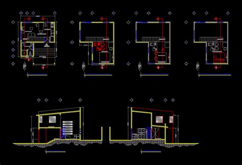 M Drawing In Autocad house 50m2 studio dwg block for autocad designs cad