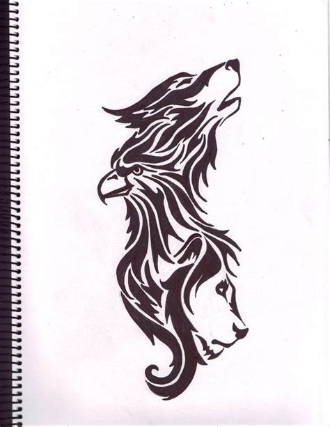 tattoo eagle and wolf eagle wolf and lion tattoos pinterest wolves you