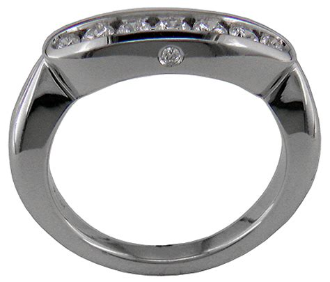 platinum promise three ring with band bijoux