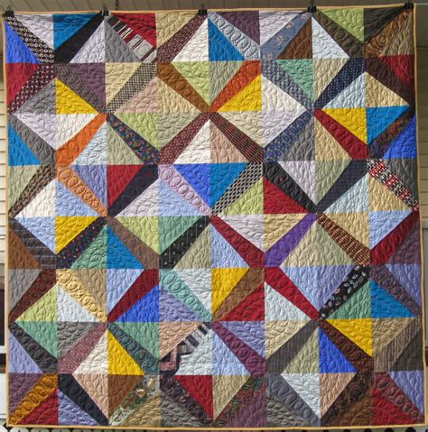 Tie Quilt by Necktie Quilts Finished Hearts And