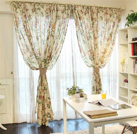 country style window curtains aliexpress buy rustic country style linen curtains