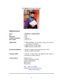 resume sle application malaysia employment