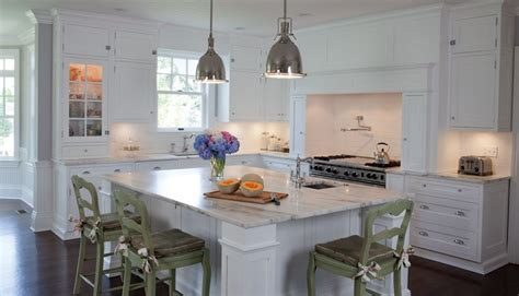 classic hamptons style white painted kitchen kitchen