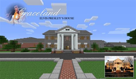 elvis house elvis presley s graceland mansion minecraft project