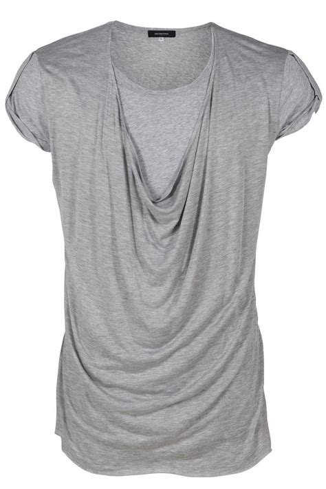 drape shirt unconditional drape front t shirt in gray for men white