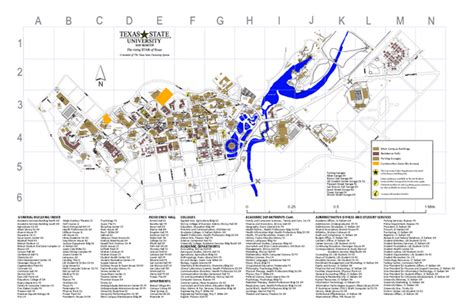texas state university cus map texas state university map my