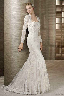Brautkleid Spitze Langarm by Sleeve Lace Wedding Dress