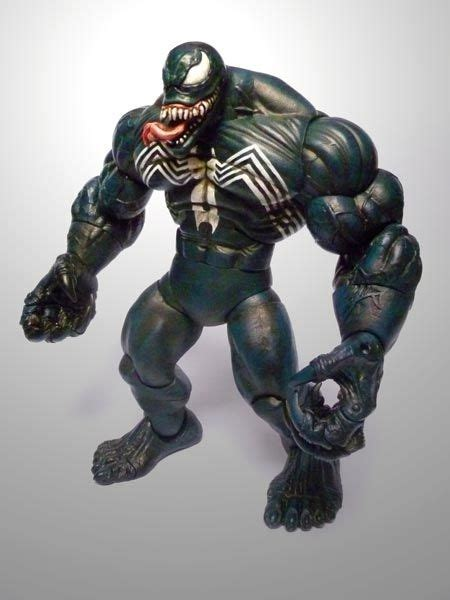Figure Venom detalles de marvel legends venom figura