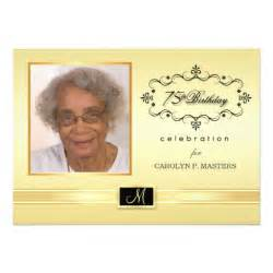 75th birthday invitations with photo 5 quot x 7 quot invitation card zazzle