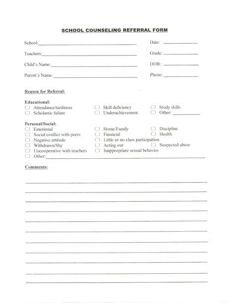counselling referral form template nuriportfolio school counseling referral form