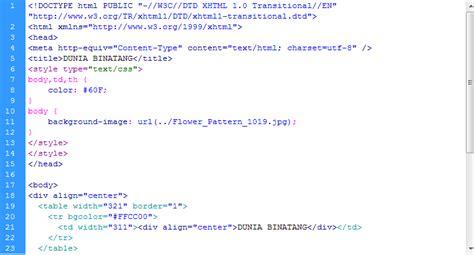 membuat link dalam tabel html ncellina membuat tabel di dalam link dreamweaver