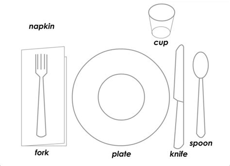 simple table setting 5 place setting templates free sle exle format
