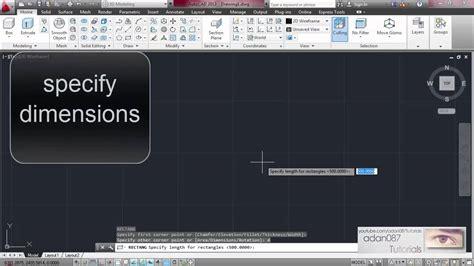 adan087 tutorials autocad make a rectangle