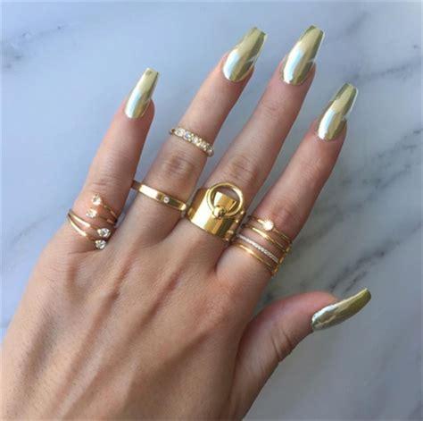 chrome nails diy chrome mirror powder nails nail art ideas